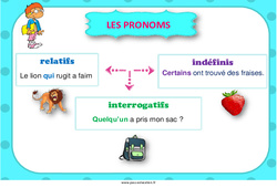 Pronoms – Affiche de classe – Cycle 3