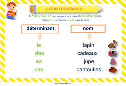 Déterminants – Cycle 2 – Affiche de classe