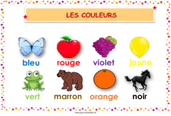 Couleurs – Cycle 2 – Affiche de classe
