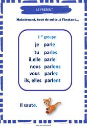 Présent des verbes du 1er groupe – Cycle 2 – Affiche de classe