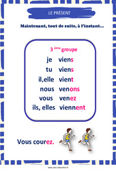 Présent du 3e groupe – Affiche de classe – Cycle 3