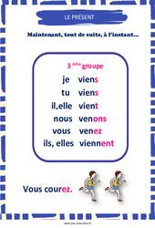 Présent du 3e groupe – Cycle 2 – Affiche de classe