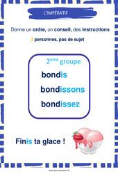 Impératif des verbes du 2e groupe – Cycle 3 – Affiche de classe