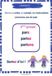 Impératif des verbes du 3e groupe – Cycle 3 – Affiche de classe