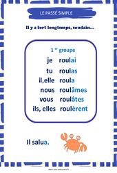 Passé simple des verbes du 1er groupe – Cycle 3 – Affiche de classe