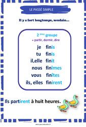 Passé simple des verbes du 2e groupe – Cycle 3 – Affiche de classe