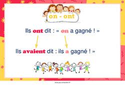 Homonymes «on» et «ont» – Cycle 2 – Affiche de classe