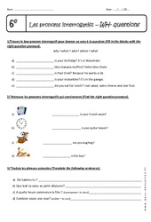 WH- questions – 6ème – Exercices sur les pronoms interrogatifs