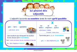 Pluriel des adjectifs – Affiche de classe – Cycle 2