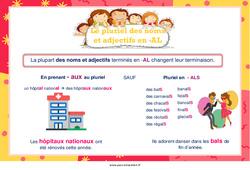 Pluriel des noms et adjectifs en -al – Cycle 3 – Affiche de classe