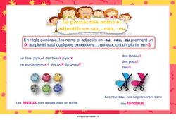 Pluriel des noms et adjectifs en -au, -eau, -eu – Cycle 3 – Affiche de classe