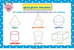 Solides - Cycle 3 - Affiche de classe