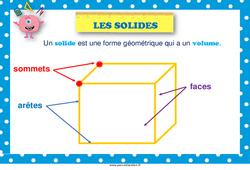 Solides – Cycle 3 – Affiche de classe