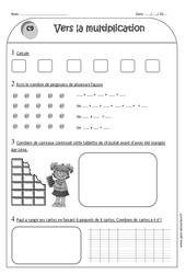 Vers la multiplication - Ce1 - Exercices à imprimer