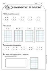 Soustraction en colonne sans retenue - Ce1 - Exercices à imprimer