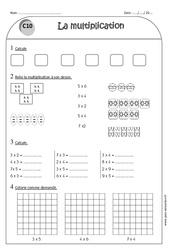 Multiplication – Ce1 – Exercices à imprimer