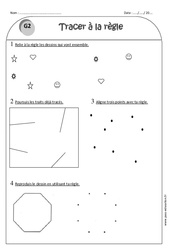 Utiliser la règle – Tracer – Ce1 – Exercices à imprimer