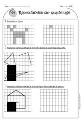 Reproduction sur quadrillage - Ce1 - Exercices à imprimer