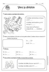 Vers la division – Ce1 – Exercices à imprimer