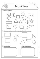 Polygones - Ce1 - Exercices corrigés