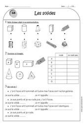 Solides - Ce1 - Exercices corrigés