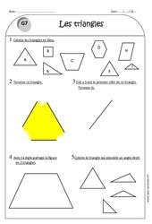Triangle - Ce1 - Exercices à imprimer