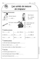 Unités de longueurs - Ce1 - Exercices sur les longueurs cm, m, km