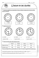 Temps et durée - Heure, minute, seconde - Ce1 - Exercices corrigés