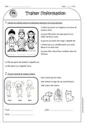 Traiter l'information - Problèmes - Ce1 - Exercices corrigés