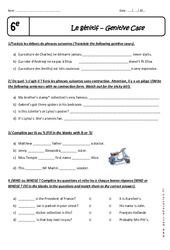 Génitif - 6ème - Exercices à imprimer