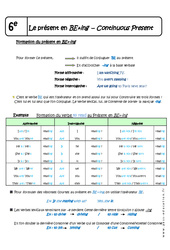 Présent continu - 6ème - Cours - Présent en BE+ing - Continuous Present