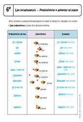 Prepositions – Adverbs of place – 6ème – Cours sur les localisateurs