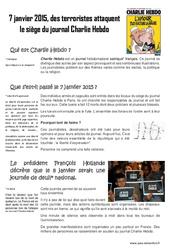 Charlie Hebdo le 7 janvier 2015 – Ce2 – Cm1 – Cm2 – Documentaire + Questions et correction