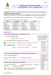 Présent des verbes du 3 ème groupe en -ir, – re, -oir, -dre – Cm1 – Leçon