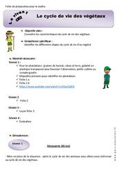 Cycle de vie des végétaux - Ce2 - Fiche de préparation 2