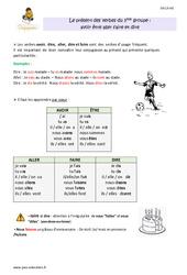 Présent des verbes du 3 ème groupe - CM1 - Leçon