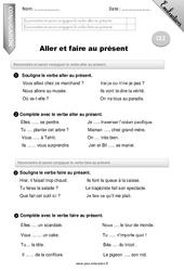 Aller et faire au présent – Ce2 – Evaluation – Bilan