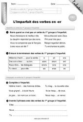 L'imparfait des verbes en -er – Ce2 – Evaluation – Bilan
