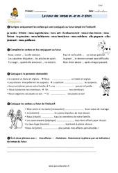 Futur des verbes en –er et –ir (finir) – CM2 – Exercices à imprimer