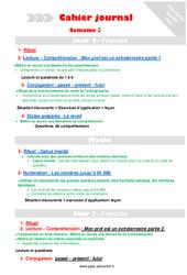 Semaine 2 - Cm1 - Cahier journal - PES - Stagiaires, jeunes profs...
