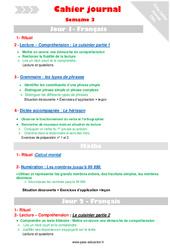 Semaine 3 - Cm1 - Cahier journal - PES - Stagiaires, jeunes profs...