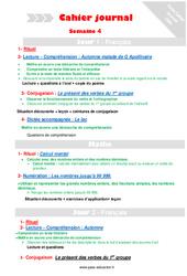 Semaine 4 - Cm1 - Cahier journal - PES - Stagiaires, jeunes profs...