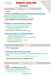 Semaine 5 - Cm1 - Cahier journal - PES - Stagiaires, jeunes profs...