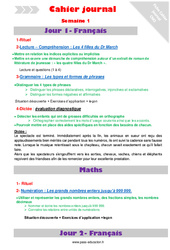 Semaine 1 – Cm2 – Cahier journal – PES – Stagiaires, jeunes profs…