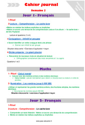 Semaine 2 – Cm2 – Cahier journal – PES – Stagiaires, jeunes profs…