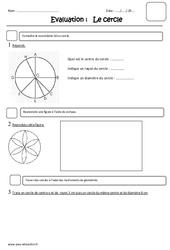 Cercle – Ce2 – Evaluation