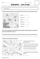 Lire un plan – Ce2 – Evaluation