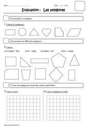 Polygones – Ce1 – Evaluation
