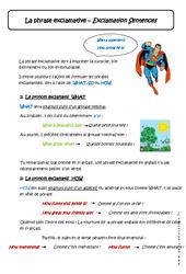 Phrase exclamative – 5ème – Cours – Anglais