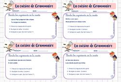 Cuisine de grammaire - Ce1 - Rituel de grammaire